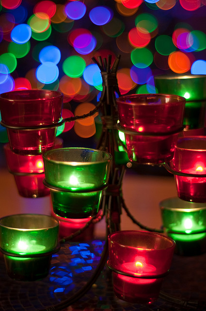 Christmas Candle Lights by Dave Patrick on Flickr Creative Commons
