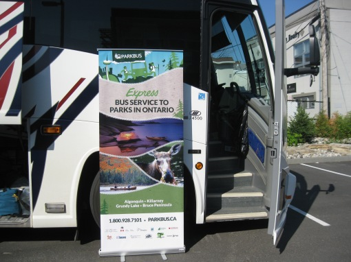 Parkbus set to depart from Ottawa to Algonquin Park - D. Deby photo