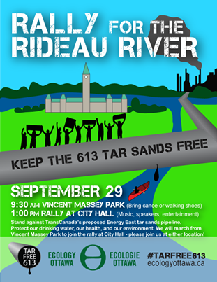 Poster courtesy Ecology Ottawa on Facebook