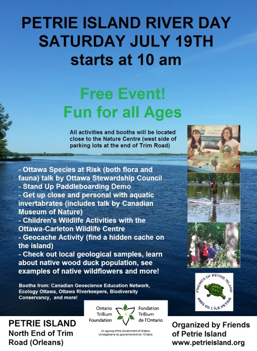 Petrie Island River Day Poster