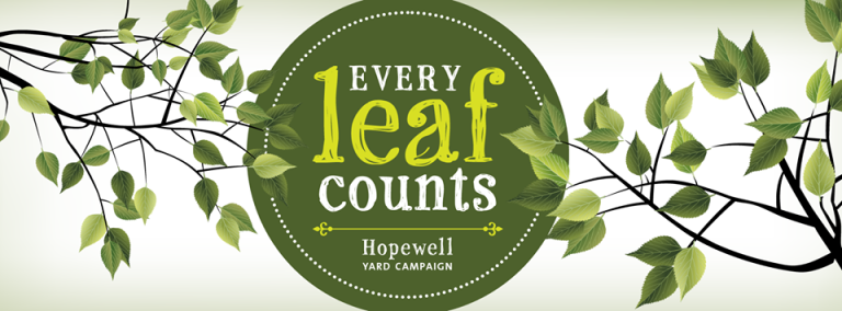 Every Leaf Counts logo by Julia Escott Albert (via Hopewell Yard Campaign)