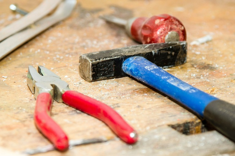 Tools by TiBine http://pixabay.com/en/tool-work-bench-hammer-pliers-384740/ CC0 Public Domain