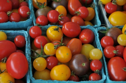 Heirloom Cherry and Plum Tomatoes by Heather Flournoy - Attribution-NoDerivs 2.0 Generic License https://www.flickr.com/photos/24126689@N05/2956533148/in/photostream/
