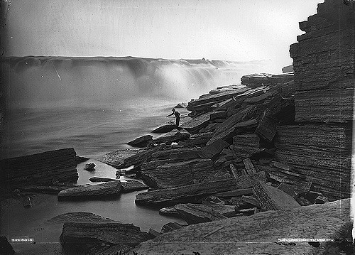 Chaudière Falls, Ottawa, ON, 1870 by William Notman (1826-1891) Musée McCord Museum on Flickr Creative Commons No known restrcitions